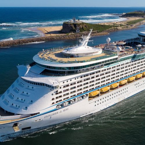 Cruise ships are berthed at the Channel Berth, Carrington Precinct