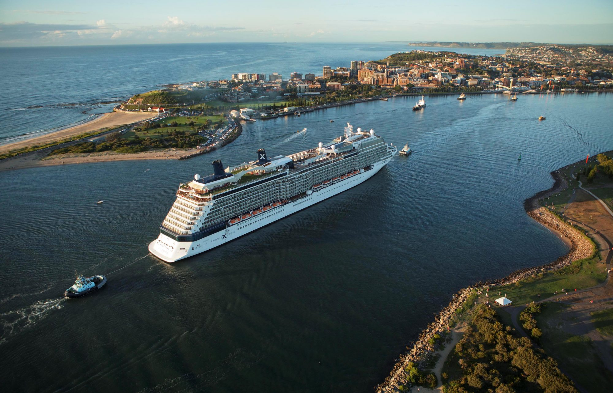 The arrival of 317-metre Celebrity Solstice to Port of Newcastle on Wednesday will mark the start of the city's 2019-20 cruise season